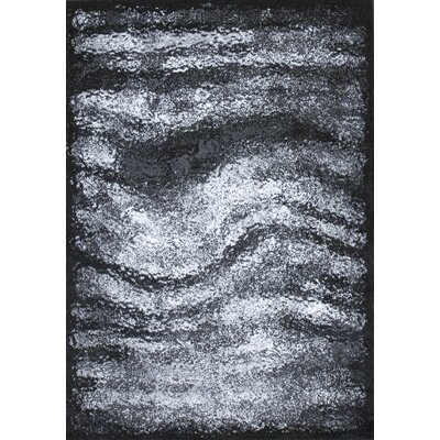 Duster Hill Gray/Black Area Rug Rug Size: 5 x 75