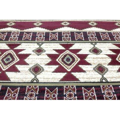 Triplicate Burgundy/Red Area Rug Rug Size: 18 x 27