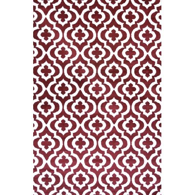 Mirror Rehash Red Area Rug Rug Size: Rectangle 5 x 7