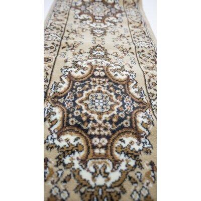 Oriental Classic Beige Area Rug Rug Size: Runner 3 x 8