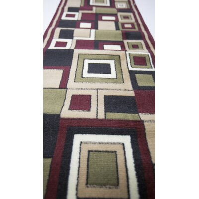 Plaza Red Area Rug Rug Size: Rectangle 3 x 5