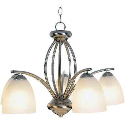Fowler Contemporary 5-Light Shaded Chandelier