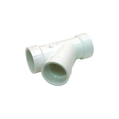 Drain Waste and Vent Polyvinyl Chloride Wye