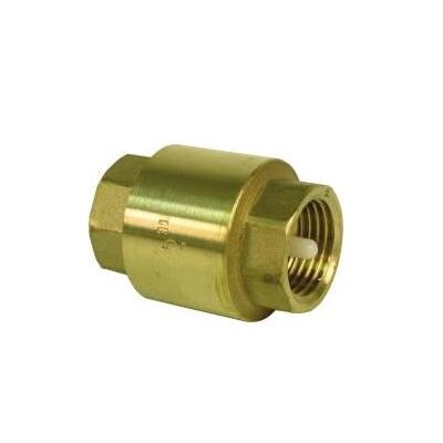 Pro Plus Spring Loaded in Line Check Brass Fip