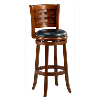 Brooklyn 29 Swivel Bar Stool Cushion Finish: Cherry