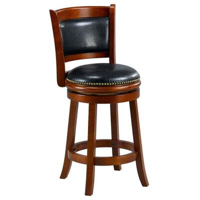 Alexis 24 Bar Stool Cushion Finish: Cherry