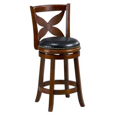 Livingston 29 inch Swivel Bar Stool Cushion Finish: Cappuccino