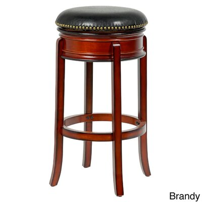 Bristol 29 Swivel Bar Stool Finish: Brown