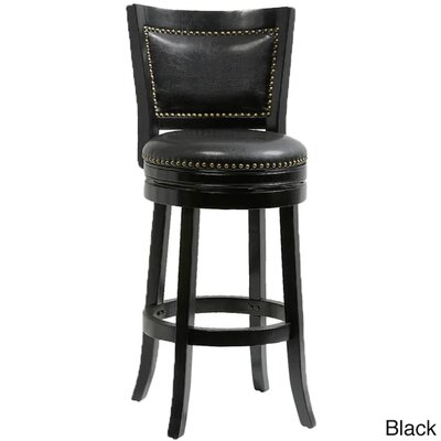 Bristol 44 Swivel Bar Stool Finish: Black