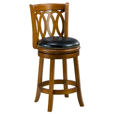 Cameron 38 Bar Stool with Cushion Finish: Oak