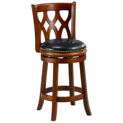Valencia 24 Bar Stool Cushion Finish: Cherry