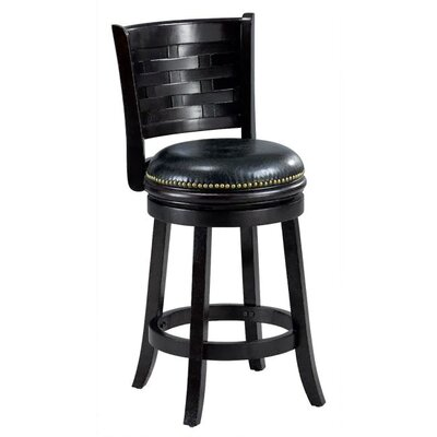 Brooklyn 24 inch Swivel Bar Stool Cushion Finish: Cappuccino