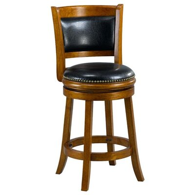 Alexis 24 Bar Stool Cushion Finish: Oak