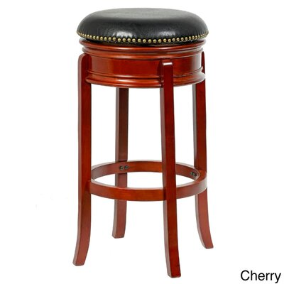 Bristol 29 inch Swivel Bar Stool Finish: Cherry