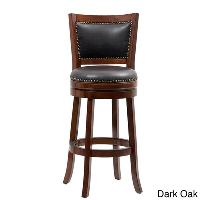 Bristol 44 Swivel Bar Stool Finish: Oak/Black