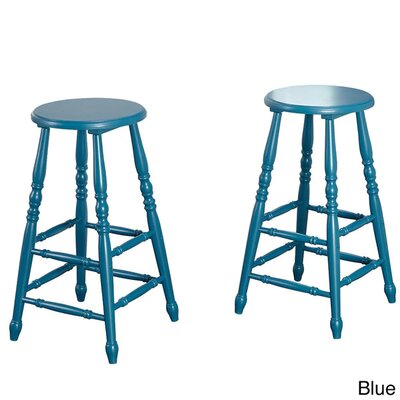 29 Bar Stool with Cushion Finish: Blue