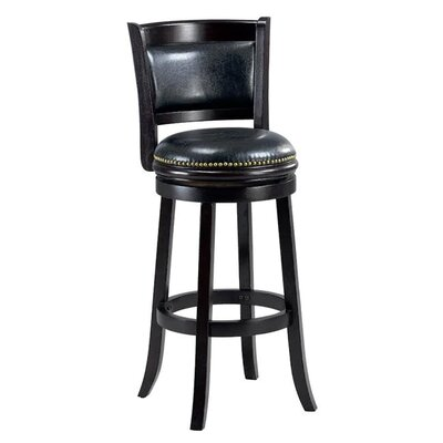 Alexis 29 Bar Stool Cushion Finish: Cappuccino