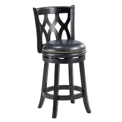 Valencia 24 Bar Stool Cushion Finish: Black