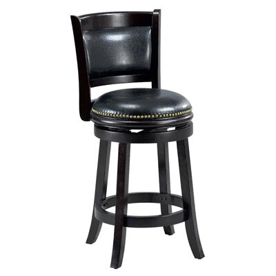Alexis 24 Bar Stool Cushion Finish: Cappuccino