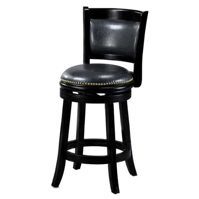 Alexis 24 Bar Stool Cushion Finish: Black
