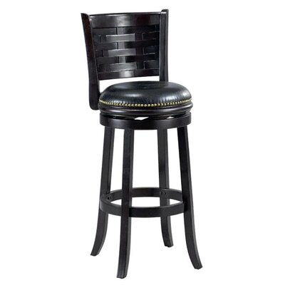 Brooklyn 29 Swivel Bar Stool Cushion Finish: Cappuccino