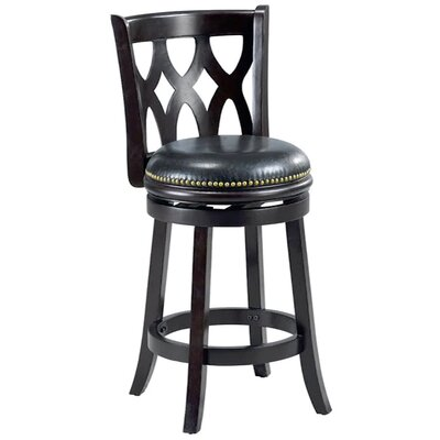 Valencia 24 Bar Stool Cushion Finish: Cappuccino