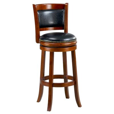 Alexis 29 Bar Stool Cushion Finish: Cherry