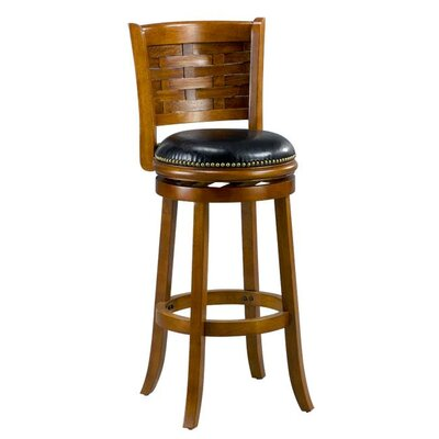 Brooklyn 29 Swivel Bar Stool Cushion Finish: Oak