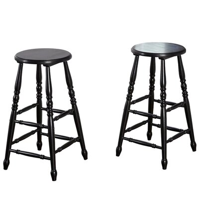 29 Bar Stool with Cushion Finish: Black