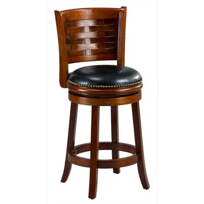 Brooklyn 24 Swivel Bar Stool Cushion Finish: Cherry