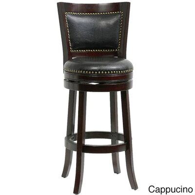 Bristol 44 Swivel Bar Stool Finish: Cappuccino/Black