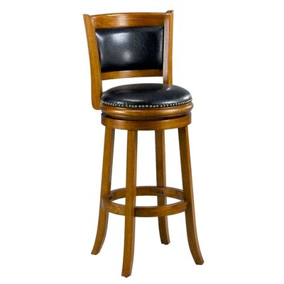 Alexis 29 inch Bar Stool Cushion Finish: Oak