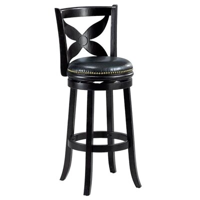 Livingston 29 Swivel Bar stool Cushion Finish: Cappuccino