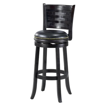 Brooklyn 29 Swivel Bar Stool Cushion Finish: Black