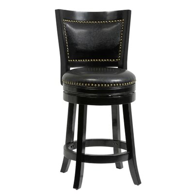 26 Swivel Bar Stool Cushion Finish: Black