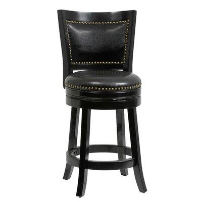 26 inch Swivel Bar Stool Cushion Finish: Black