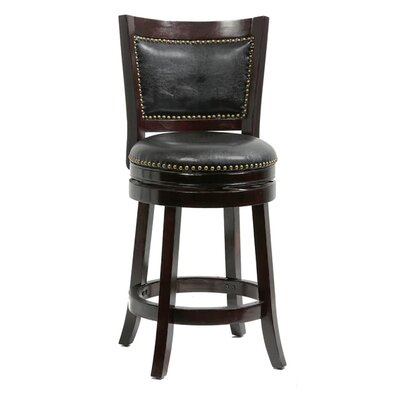 26 Swivel Bar Stool Cushion Finish: Cappuccino