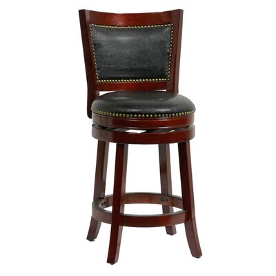 26 Swivel Bar Stool Cushion Finish: Cherry/Black