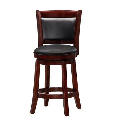 Chandler 24 Swivel Barstool with Cushion Finish: Cherry
