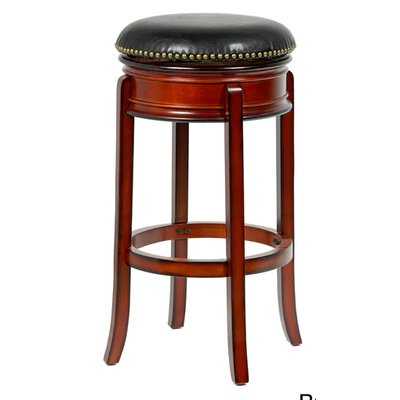 Bristol 24 Swivel Bar Stool Finish: Brown
