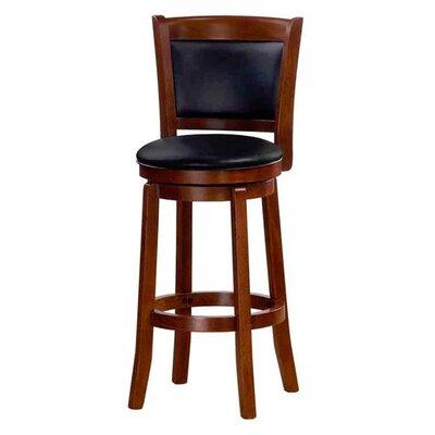 Chandler 43 Swivel Barstool with Cushion Finish: Oak