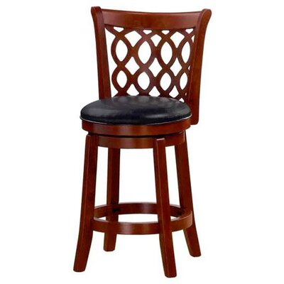 Allison 24 Swivel Bar Stool Finish: Cherry