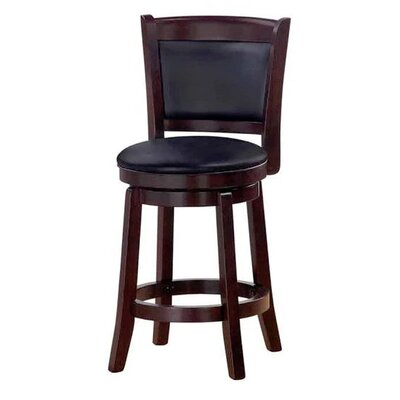 Chandler 24 Swivel Barstool Finish: Espresso