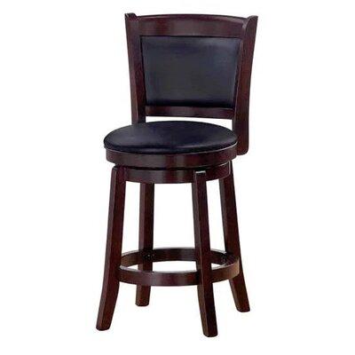 Chandler 24 Swivel Barstool with Cushion Finish: Espresso