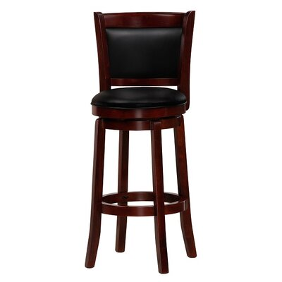 Chandler 43 Swivel Barstool Finish: Cherry