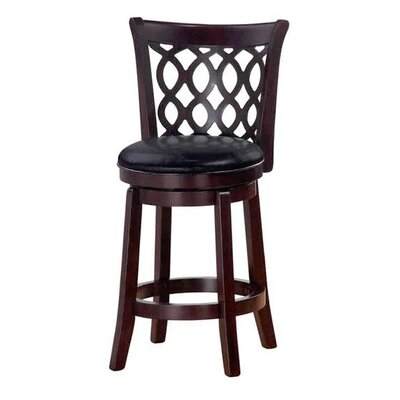 Allison 24 Swivel Bar Stool Finish: Espresso
