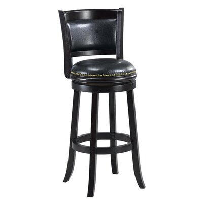 Alexis 29 inch Bar Stool Cushion Finish: Black