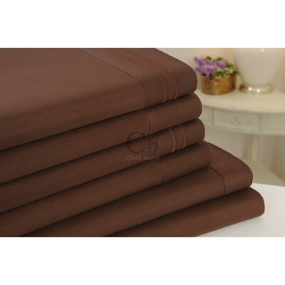 Madison Luxury Egyptian Touch 6 Piece Sheet Set Color: Brown