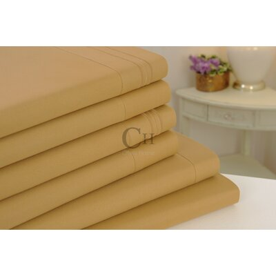 Madison Luxury Egyptian Touch 6 Piece Sheet Set Color: Gold