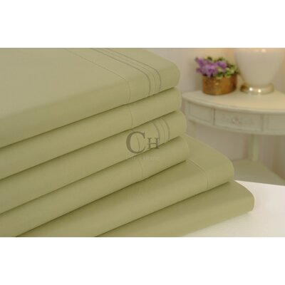 Madison Luxury Egyptian Touch 6 Piece Sheet Set Color: Sage Green